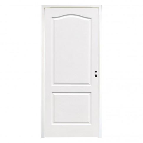 Usa interior celulara, Eco Euro Doors HDF, stanga, alb, 205 x 66 x 4 cm cu toc