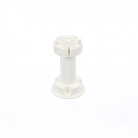 Picior mobila, universal, din plastic, alb, 100 mm