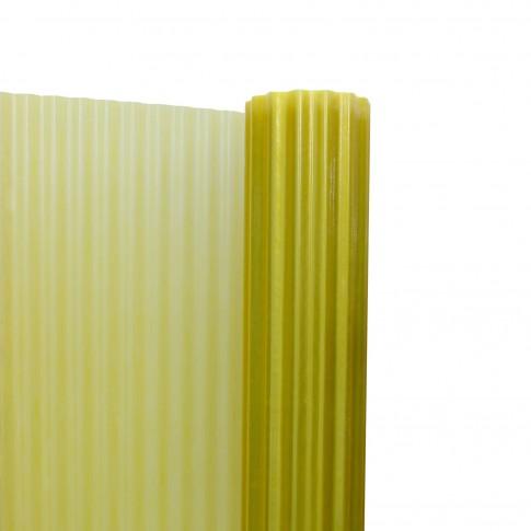 Acoperis ondulat, armat cu fibra de sticla, galben, 40 x 2 m