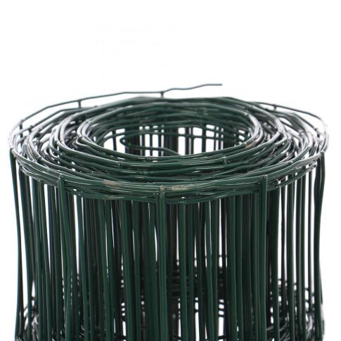 Plasa gard ornamental Europlast, acoperita cu PVC, verde, 1,8 x 25 m (2,2 x 100 x 50 mm)