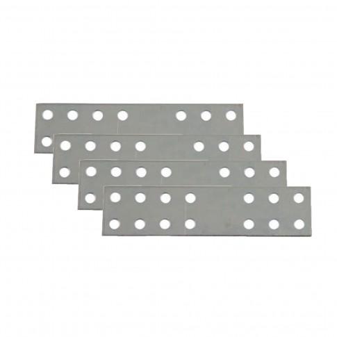 Placute metalice, tip I, pentru mobilier, zincat alb, 80 x 25 mm, set 4 bucati