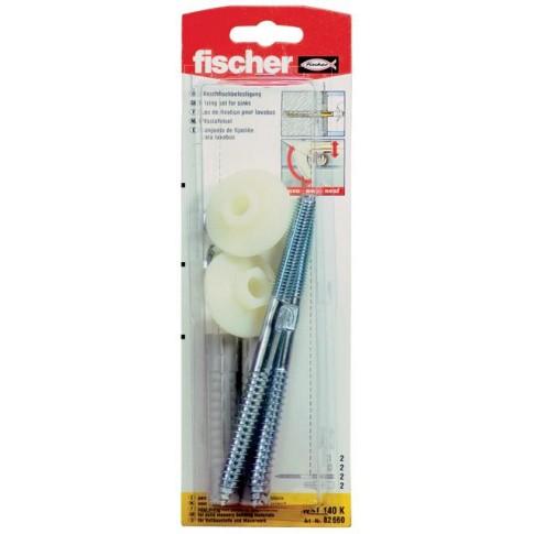 Set fixare sanitare, Fischer, diblu 10 x 75 mm, prezon M 10 x 140 mm