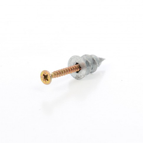 Diblu rapid, pentru gips carton, din zinc + surub 4.4 x 40, set 2 bucati