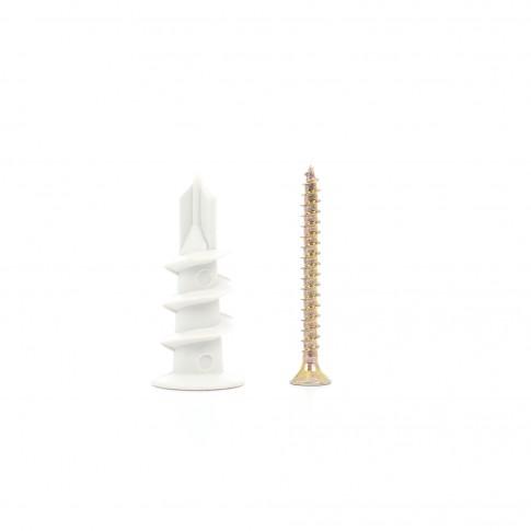 Diblu pentru gips carton, din nylon, cu surub, 3.5 x 3.5 mm, set 4 bucati