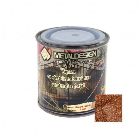 Vopsea patinata pentru metal, interior / exterior, cupru, 0.25 L