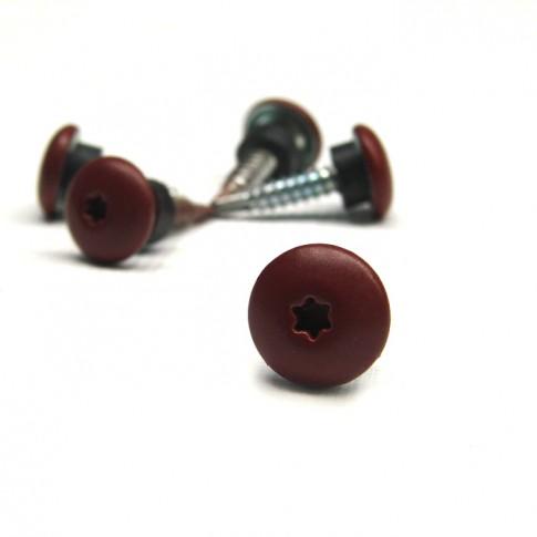 Surub pentru tigla metalica, autoforant, Lindab Unifast-M, rosu inchis RAL 758, 4,8 x 20 mm, 250 bucati
