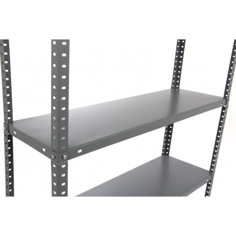 Raft metalic depozitare, Bricol 30, 180 x 90 x 30 cm, gri, 70 kg/polita