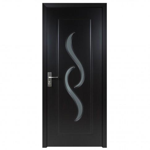 Usa de interior din lemn cu geam Super Door F07-88-T stanga / dreapta wenge 203 x 88 cm