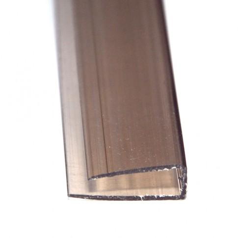 Profil policarbonat U, bronz, 6 x 2100 mm