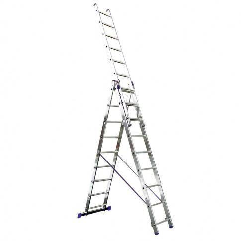 Scara aluminiu 3 x 9 trepte