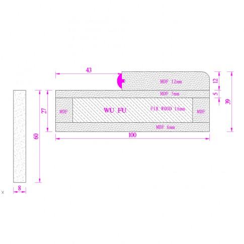 Usa de interior din lemn cu geam Super Door F12-88-Q stanga / dreapta stejar deschis 203 x 88 cm