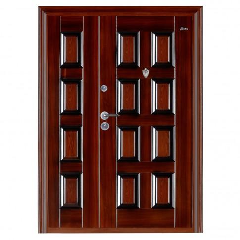 Usa interior metalica dubla BestImp B69D, stanga/dreapta, maro, 202 x 140 cm