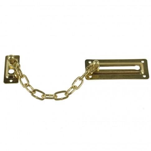Lant blocare usa, auriu, 105 x 42 mm