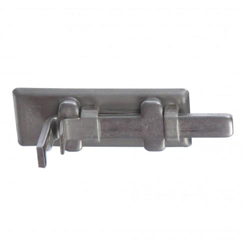 Zavor aplicat, inchidere cu lacat, argintiu, 80 x 32.5 mm