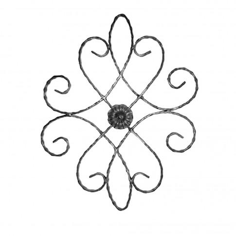 Element fier forjat rozeta RZ 013 450 x 550 mm