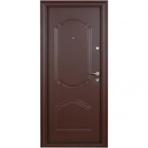 Usa metalica pentru exterior Tracia Cronos, stanga, maro, 205 x 88 cm + accesorii