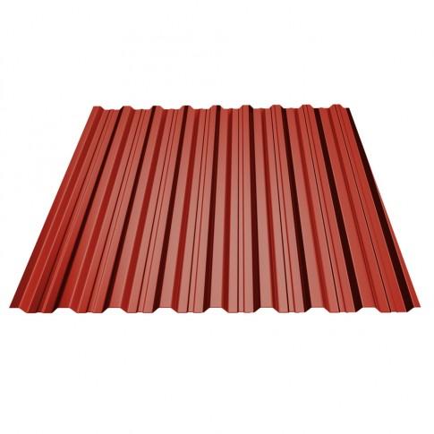 Tabla cutata, TG18, rosu bordo (RAL 3011), 1500 x 1150 x 0.4 mm