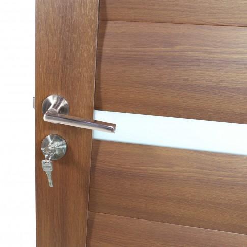 Usa de interior din lemn cu geam BestImp G1-68-J stanga / dreapta stejar auriu 203 x 68 cm