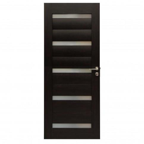 Usa de interior din lemn cu geam BestImp G1-68-W stanga / dreapta wenge 203 x 68 cm