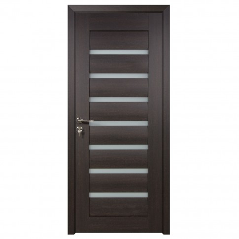 Usa de interior din lemn cu geam BestImp G3-78-W stanga / dreapta wenge 203 x 78 cm