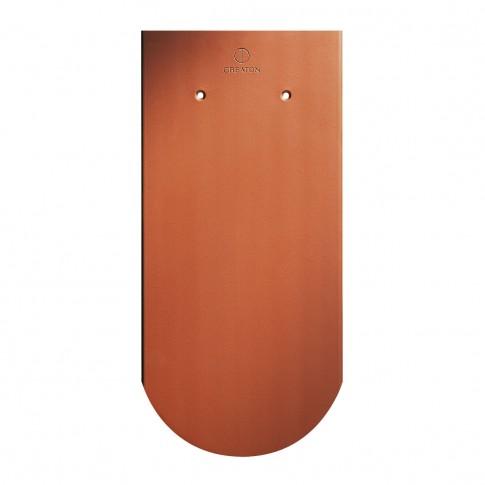 Tigla ceramica 1/1 Creaton Klassic Biber, rosu natural, 18 x 38 cm