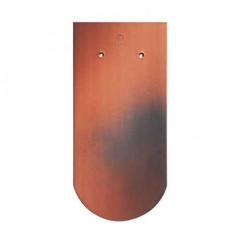 Tigla ceramica 1/1 Creaton Klassic Biber, rosu natur cu efect de ardere, 18 x 38 cm