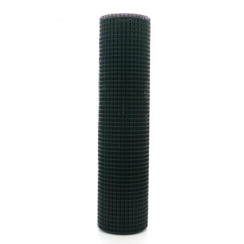 Plasa gard ornamental Grunman, acoperita cu PVC, verde, 1 x 25 m (1,2 x 19 x 19 mm)