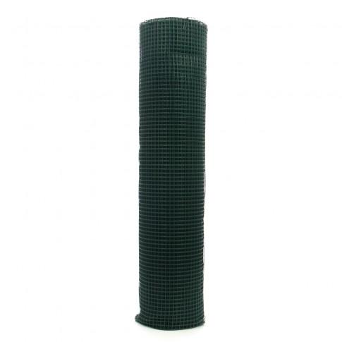 Plasa gard ornamental Grunman, acoperita cu PVC, verde, 1 x 25 m (0,9 x 13 x 13 mm)