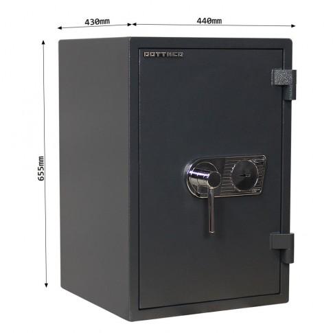 Seif Rottner Atlas Fire Premium 65 T05664, inchidere cu cheie, 655 x 440 x 430 mm