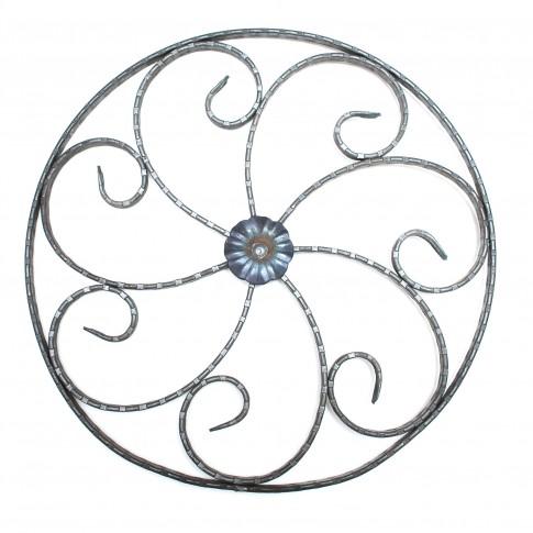 Panou fier forjat rozeta floare UNV 80.3 D425