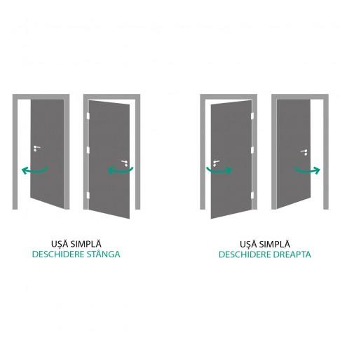 Usa interior celulara, Porta Doors Verte Nova 7.1, dreapta 80, stejar inchis, cu toc rotunjit