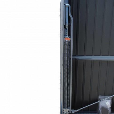 Usa garaj basculanta Hormann Light GSL, gri antracit (RAL 7016), 2500 x 2125 mm