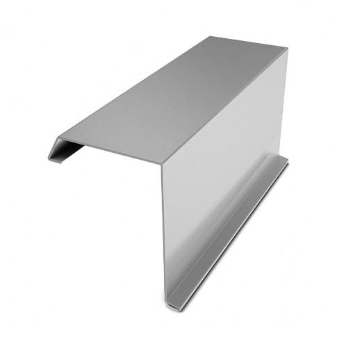 Bordura fronton Bilka argintiu lucios (RAL 9006) 2000 x 312.5 x 0,45 mm