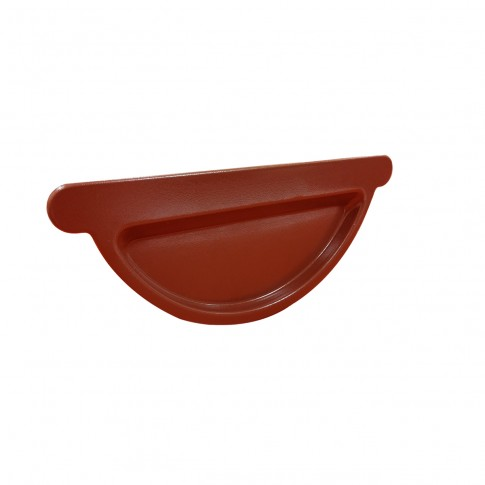 Capac pentru jgheab Baudeman, rosu inchis lucios (RAL 3009), D 125 mm