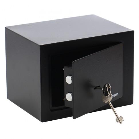 Seif mobila Burg Wachter Favor S1 K, cheie cu barbie dubla, din tabla de otel, negru, 230 x 170 x 170 mm
