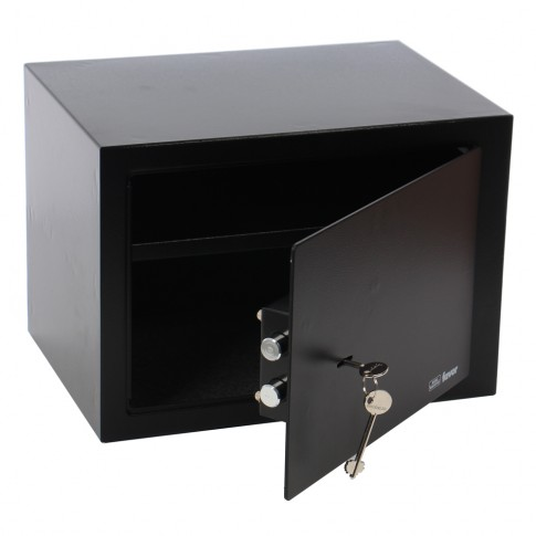 Seif mobila Burg Wachter Favor S5 K, cheie cu barbie dubla, din tabla de otel, negru, 350 x 250 x 250 mm