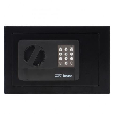 Seif mobila Burg Wachter Favor S3 E, electronic, din tabla de otel, negru, 310 x 200 x 200 mm