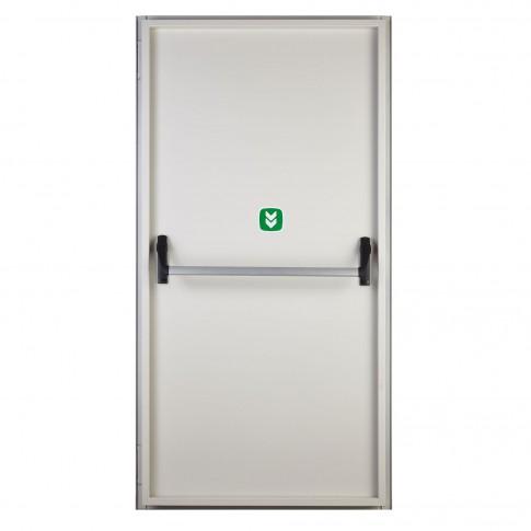 Usa antipanica Megadoor, tabla, deschidere reversibila, alba, 100 x205 x 8.7 cm
