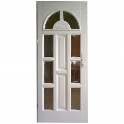 Usa intrare din lemn, Zsuzsana, alba, cu sticla bombata, stanga, 88 x 208 cm