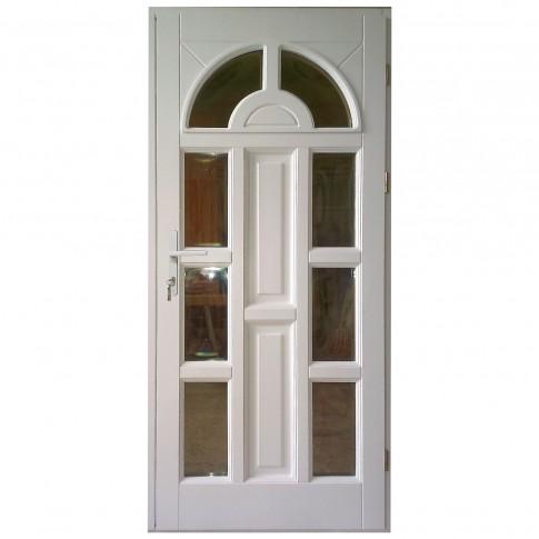 Usa intrare din lemn, Zsuzsana, alba, cu sticla bombata, dreapta, 98 x 208 cm