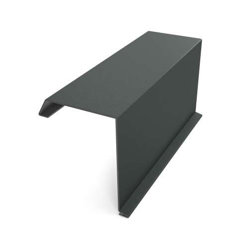 Bordura fronton Baudeman gri mat (RAL 7024) 2000 x 312.5 x 0.45 mm
