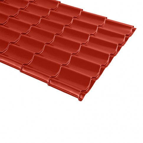 Tigla metalica Bilman, rosu lucios (RAL 3011), 2570 x 1200 x 0.4 mm