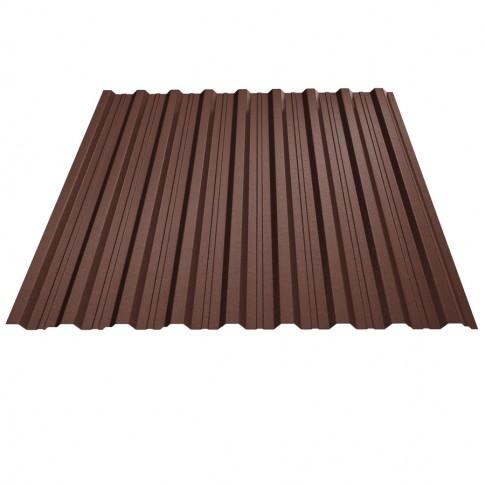 Tabla cutata, T18, maro (RAL 8017), 0.45 mm