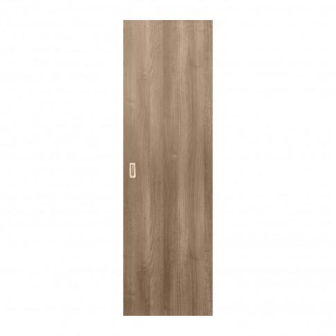 Usa de interior culisanta Eco Euro Doors, plina, gri, 85 x 206 cm + maner ingropat