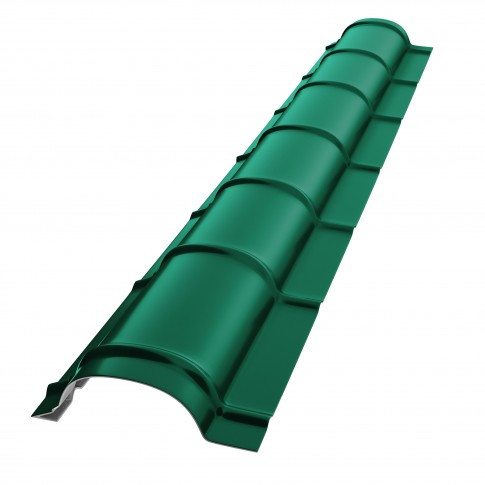 Coama mica Baudeman, verde lucios (RAL 6005), 2000 x 230 x 0.45 mm