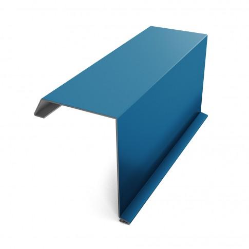 Bordura fronton Baudeman albastru lucios (RAL 5010) 2000 x 312.5 x 0.45 mm