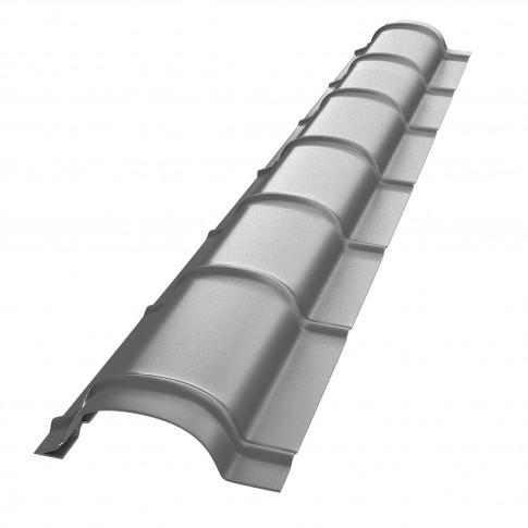 Coama mica Bilka, argintiu lucios (RAL 9006), 2000 x 230 x 0,45 mm