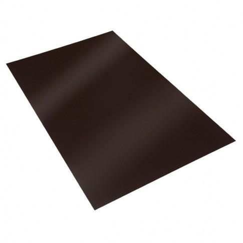 Tabla plana Bilman, maro lucios (RAL 8017), 2000 x 1250 x 0.4 mm