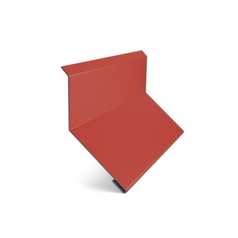 Bordura la perete Baudeman, rosu aprins (RAL 3000), 0.45 mm