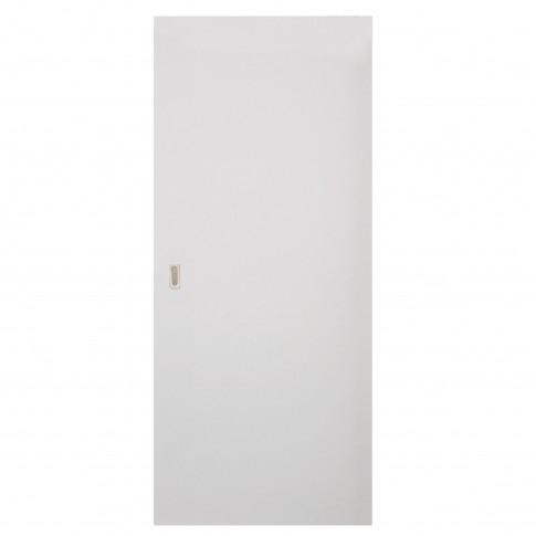 Usa de interior culisanta Eco Euro Doors, plina, alba, 95 x 206 cm + maner ingropat